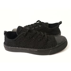 Rue 21 | Black Crochet Converse Style Shoes